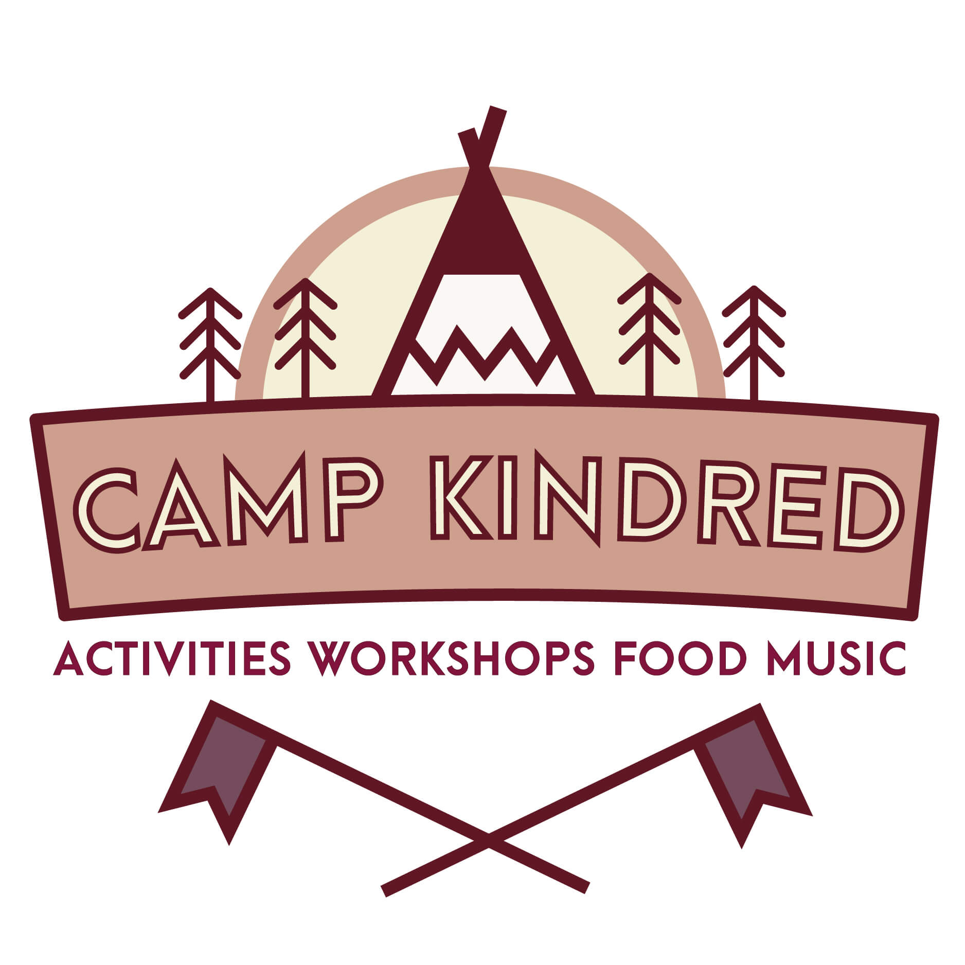 Camp Kindred Corporate Logo Plush Tents Glamping