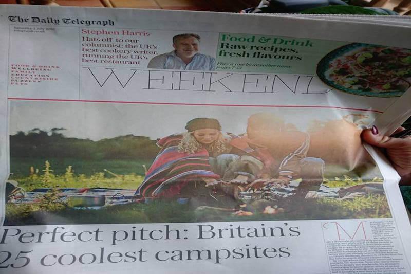 Telegraph Britain's 25 coolest campsites Plush Tents Glamping