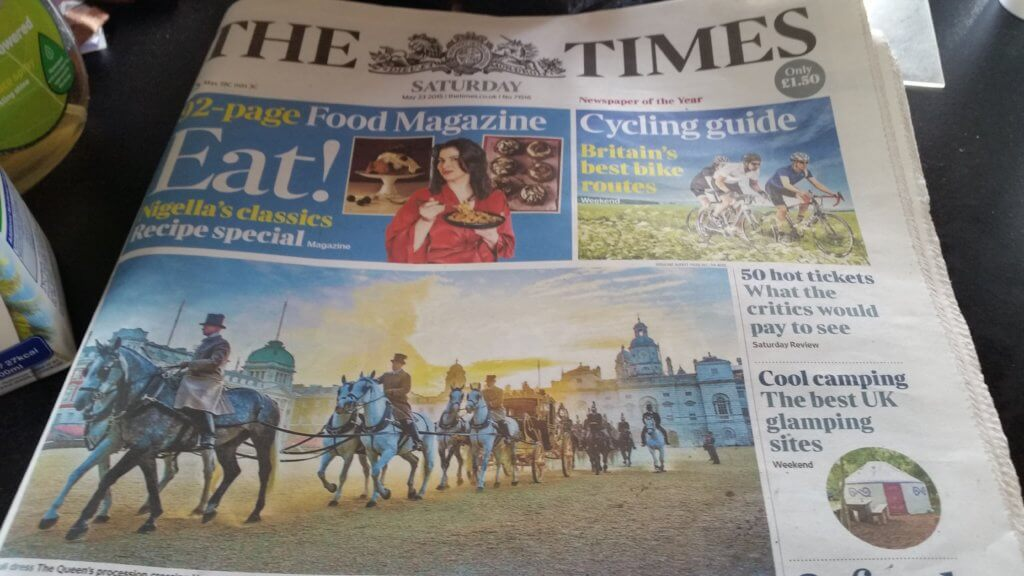The Times Newspaper Plush Tents Glamping Goodwood Chichester West Sussex