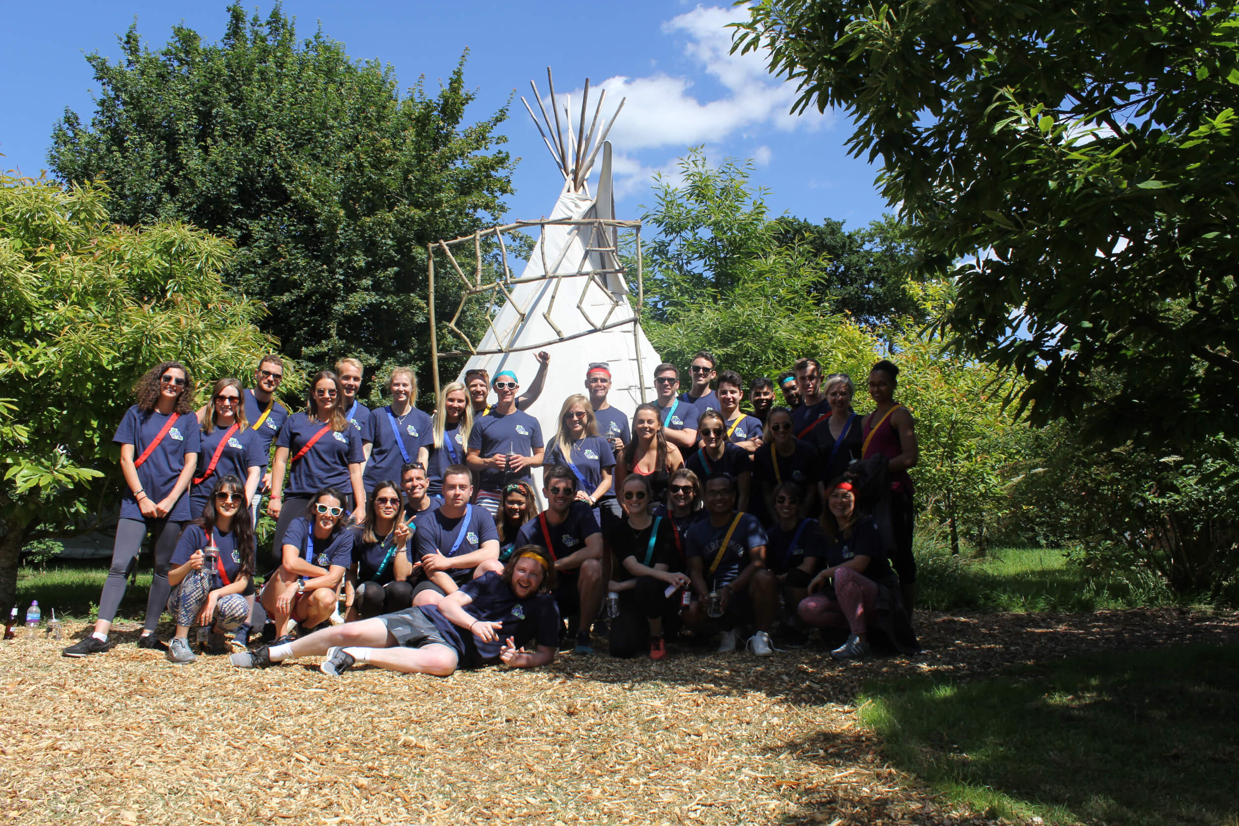 Vita Coco staff corporate team building at Plush Tents Glamping For Camp Kindred