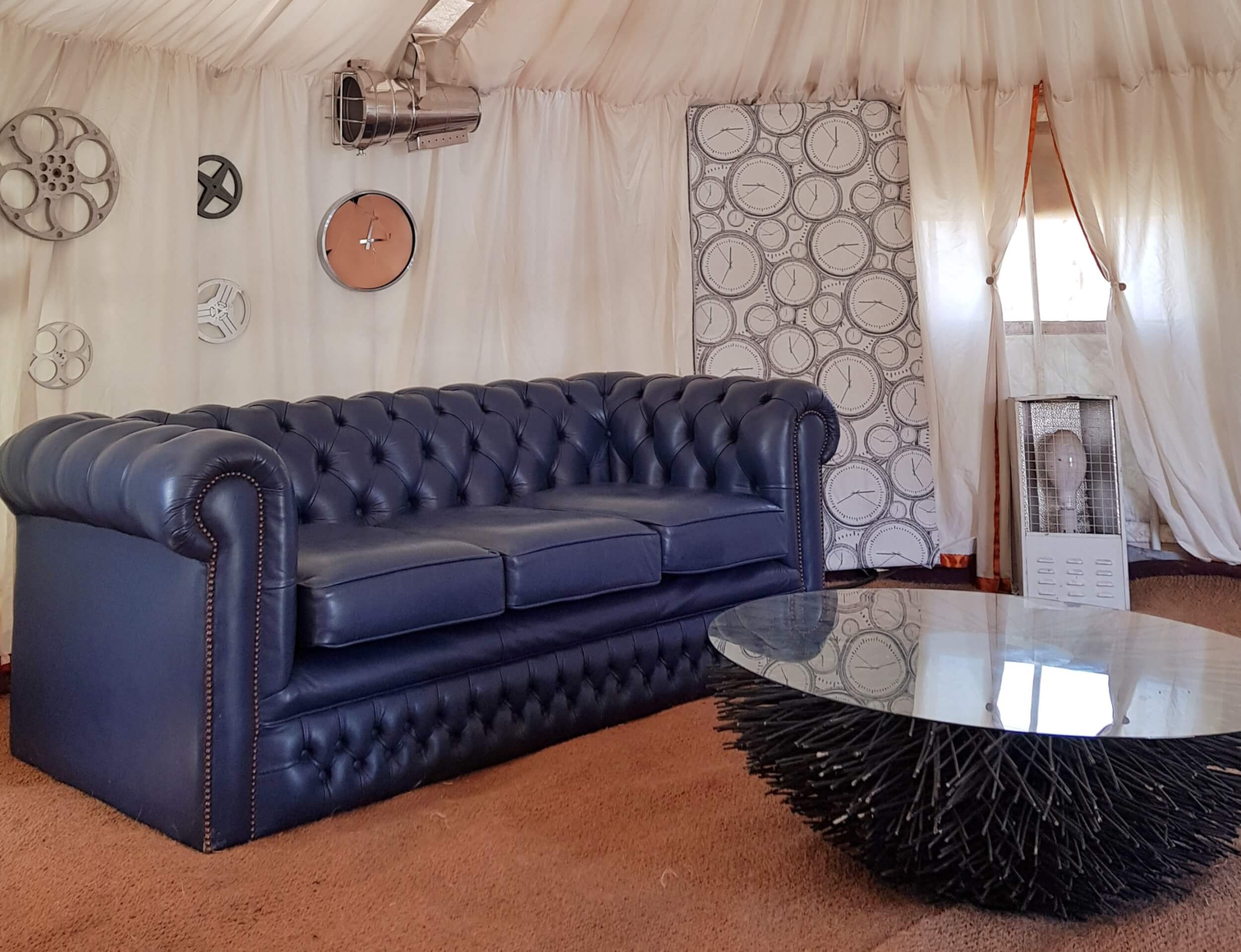 Event yurts at boomtown interior decor|plush tents