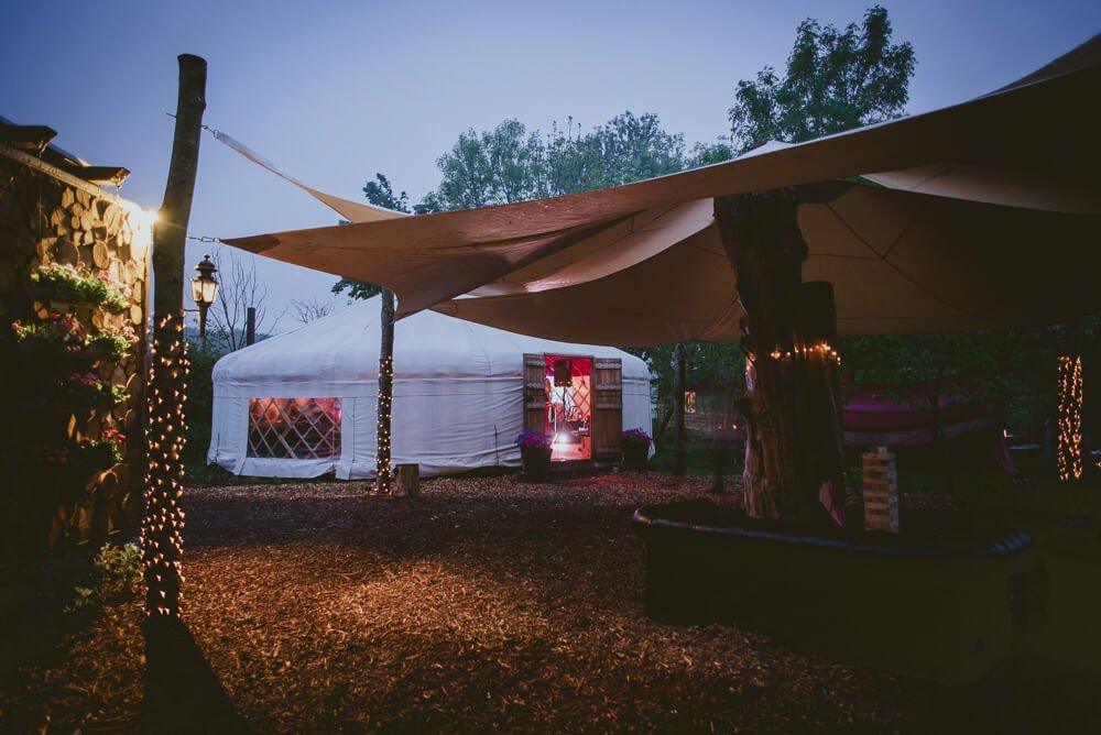 Midweek wedding package- last minute wedding plush tents glamping yurt village