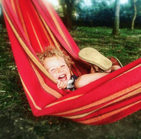 Plush Tents Hammocks Kids Family Happy
