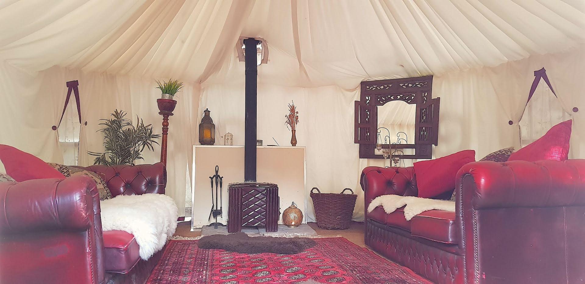 Plush Tents Yurt Hire Lounge Green Room