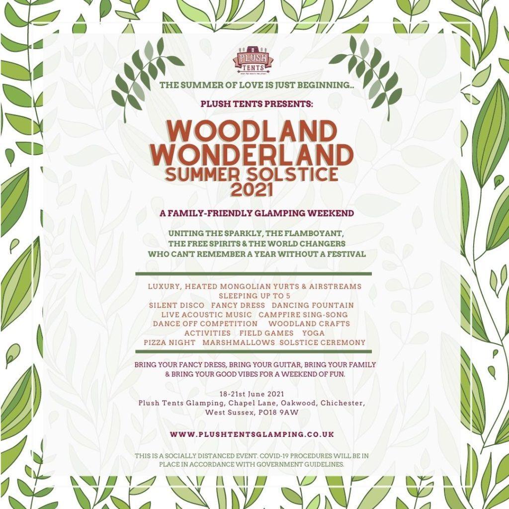 Woodland wonderland Plush Tents Glamping