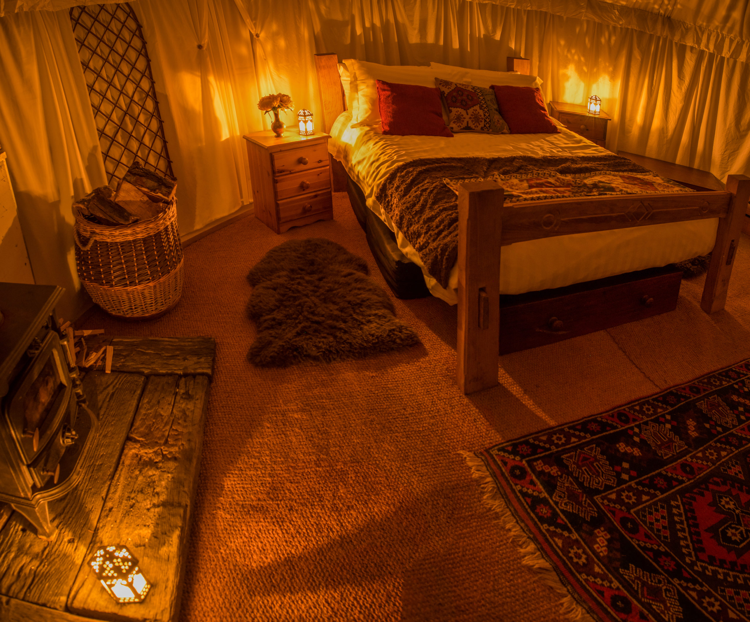 Inside Yurt Plush Tents Glamping